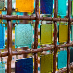 Glass art in Santa Fe, New Mexico