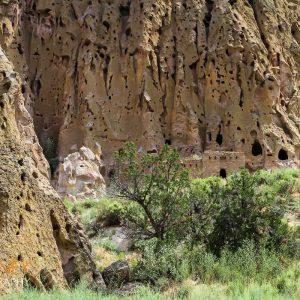 Pueblo ruins in Bandelier National Monument, New Mexico