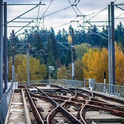 sound transit light rail double crossover track
