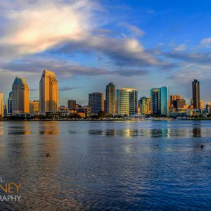 Early morning over downtown San Diego