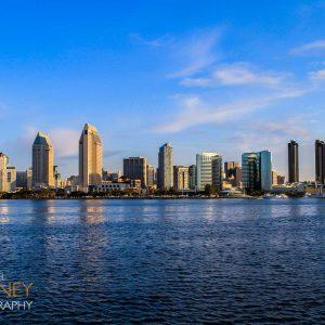 The downtown San Diego skyline viewed from Coronado Island