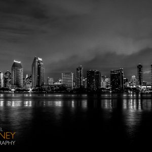 Downtown San Diego shot in black and white