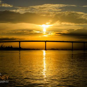 Dawn over the Coronado Bridge in San Diego