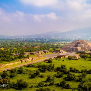 Teotihuacan's Pyramid of the Moon, as viewed from the Pyramid of the Sun.