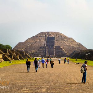 Teotihuacan's Pyramid of the Moon at the end of the Avenue of the Dead.