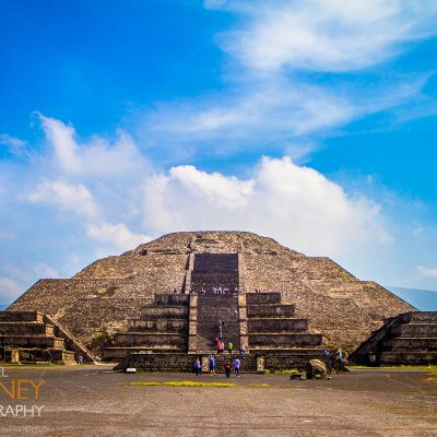 The Pyramid of the Moon at Teotihuacan.