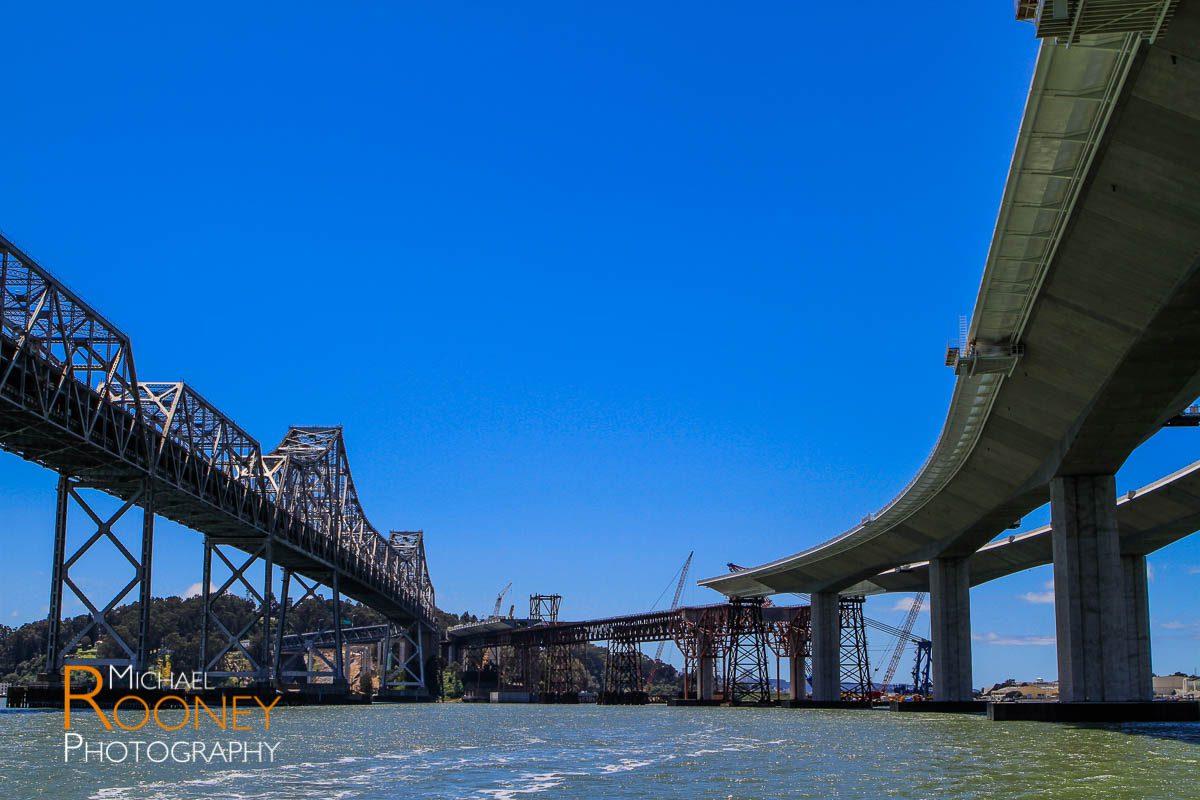 bay bridge construction next to old bay bridge