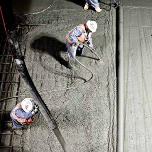 Screeding concrete for the Montague Trench on the BART Silicon Valley Berryessa Extension project in Milpitas, California