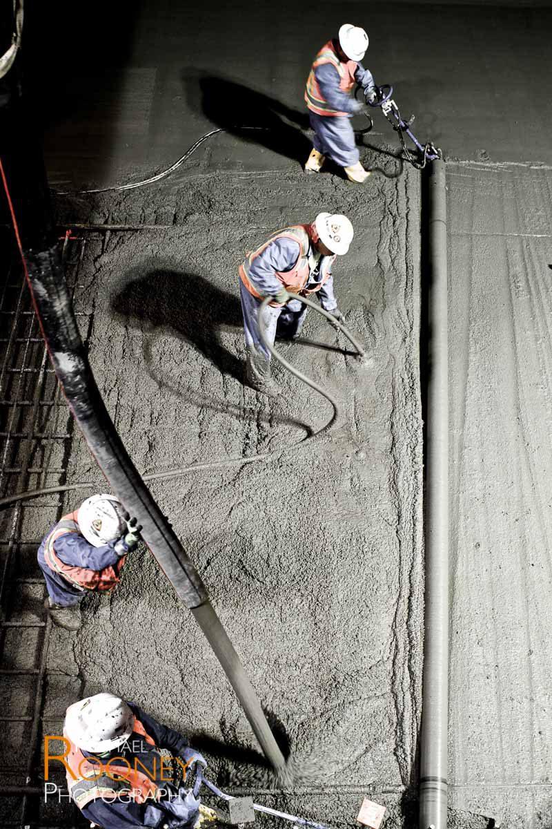 bart svbx berryessa extension to silicon valley trench concrete screeding