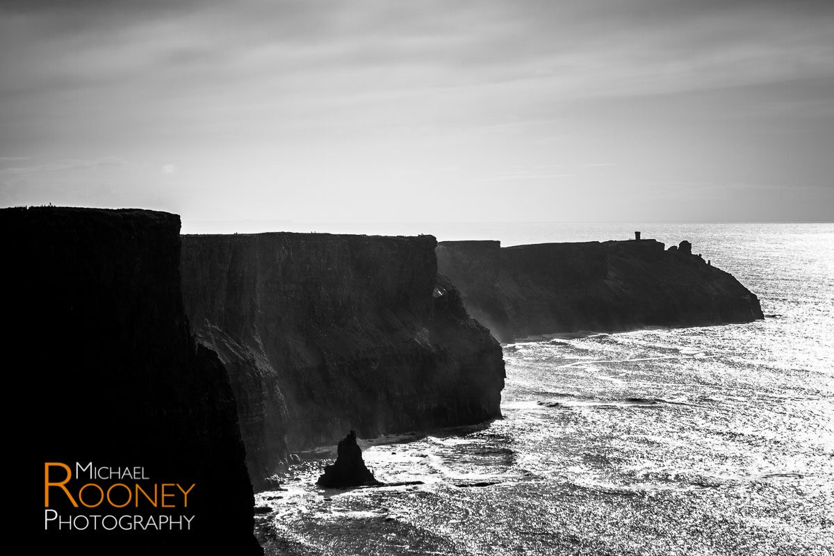 black and white cliffs of moher county clare ireland