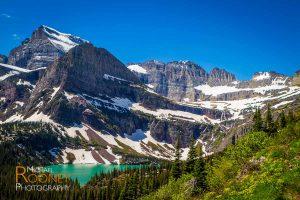 grinnell lake mount gould glacier national park montana