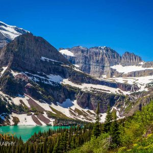 Grinnell Lake and Mount Gould in Glacier National Park in Montana