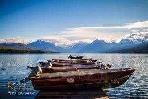 boats lake mcdonald glacier national park montana