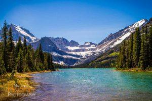 lake josephine mount gould glacier national park montana