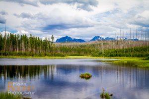 howe lake glacier national park montana