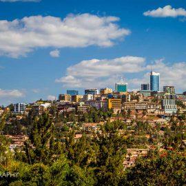 skyline kigali rwanda africa downtown sunny sky
