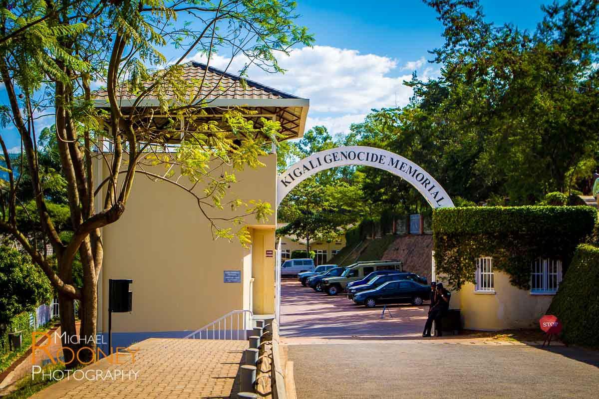 kigali genocide memorial entrance rwanda africa sunny