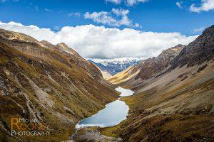 glacial lake water fresh valley bhutan