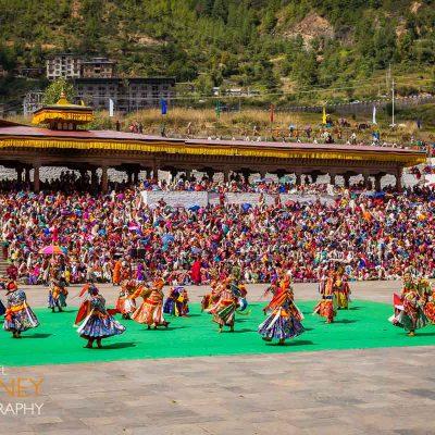 thimphu bhutan festival dancers traditional dance plaza party annual tradition buddhist