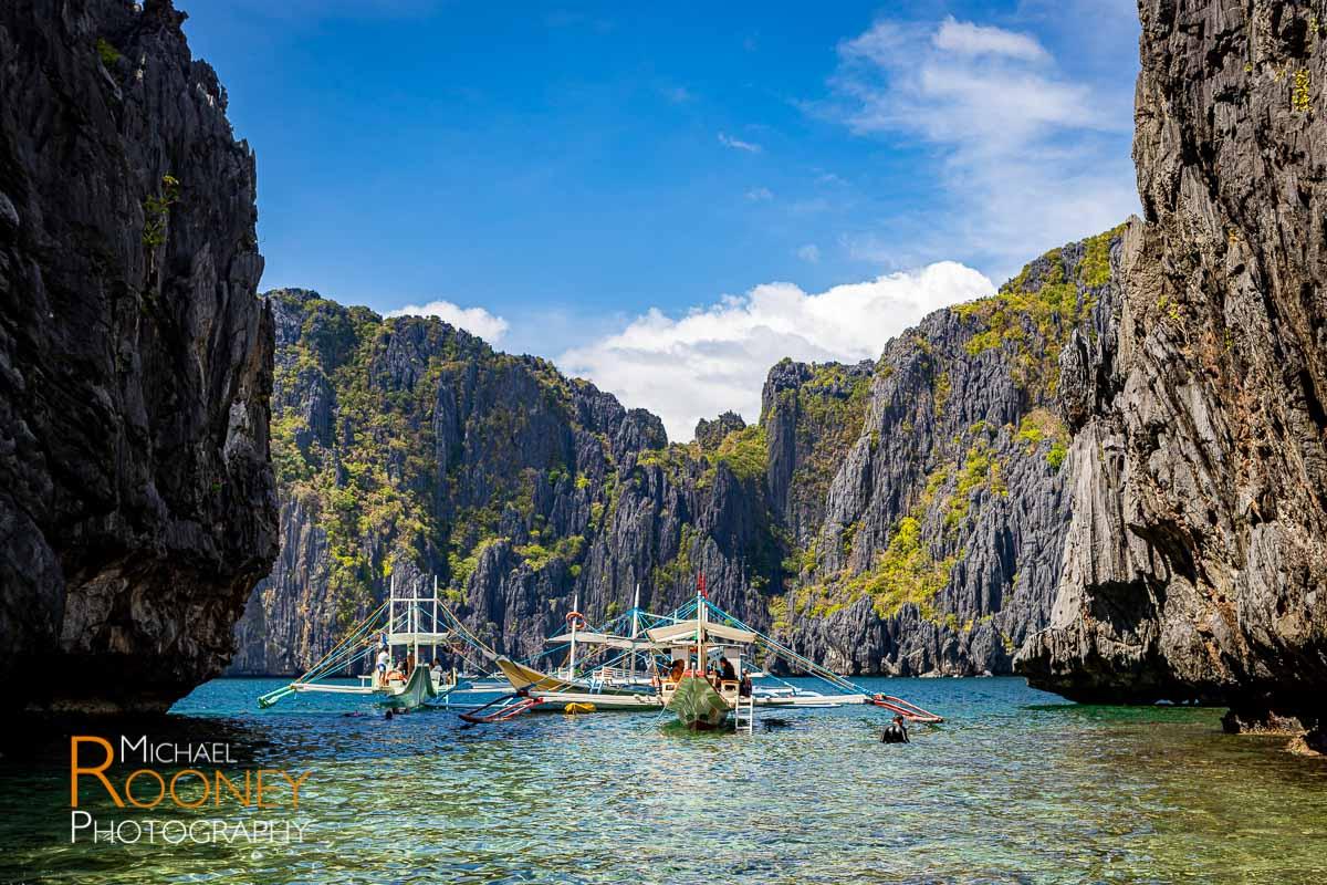 boat island lagoon shimizu island bacuit bay philippines el nido
