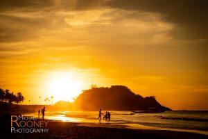 sunset silhouette nacpan beach el nido palawan philippines