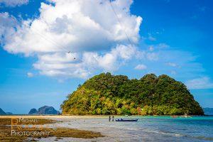 zipline water boat depeldet island el nido palawan, philippines