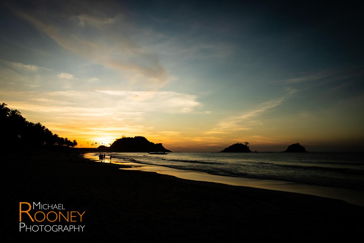 island beach silhouette sunset desk el nido palawan philippines
