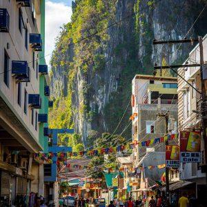 A street in downtown El Nido, Palawan, Philippines