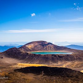blue lake tongariro national park new zealand
