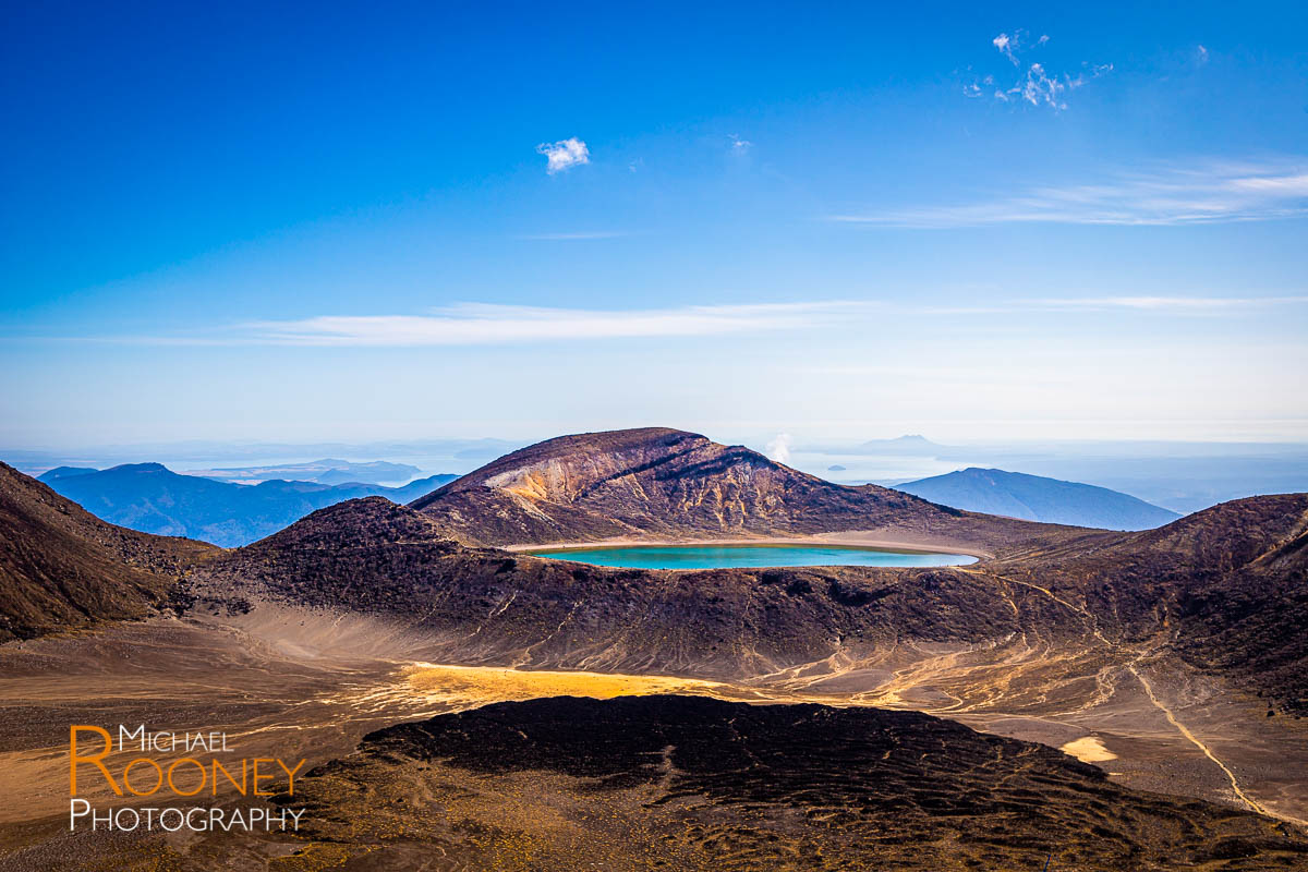 blue lake tongariro national park new zealand