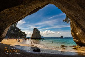 te hoho rock cathedral cove cave hahei coromandel peninsula new zealand
