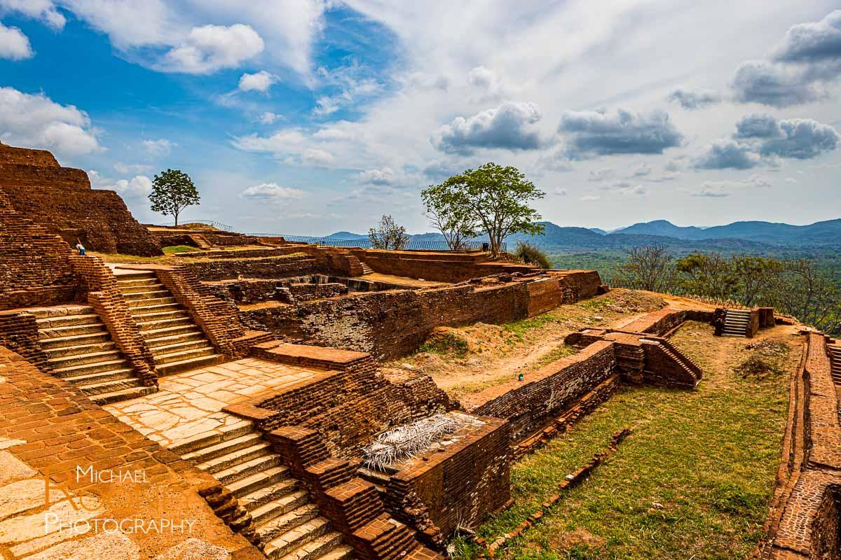 sigiriya fortress terrace sunny sri lanka