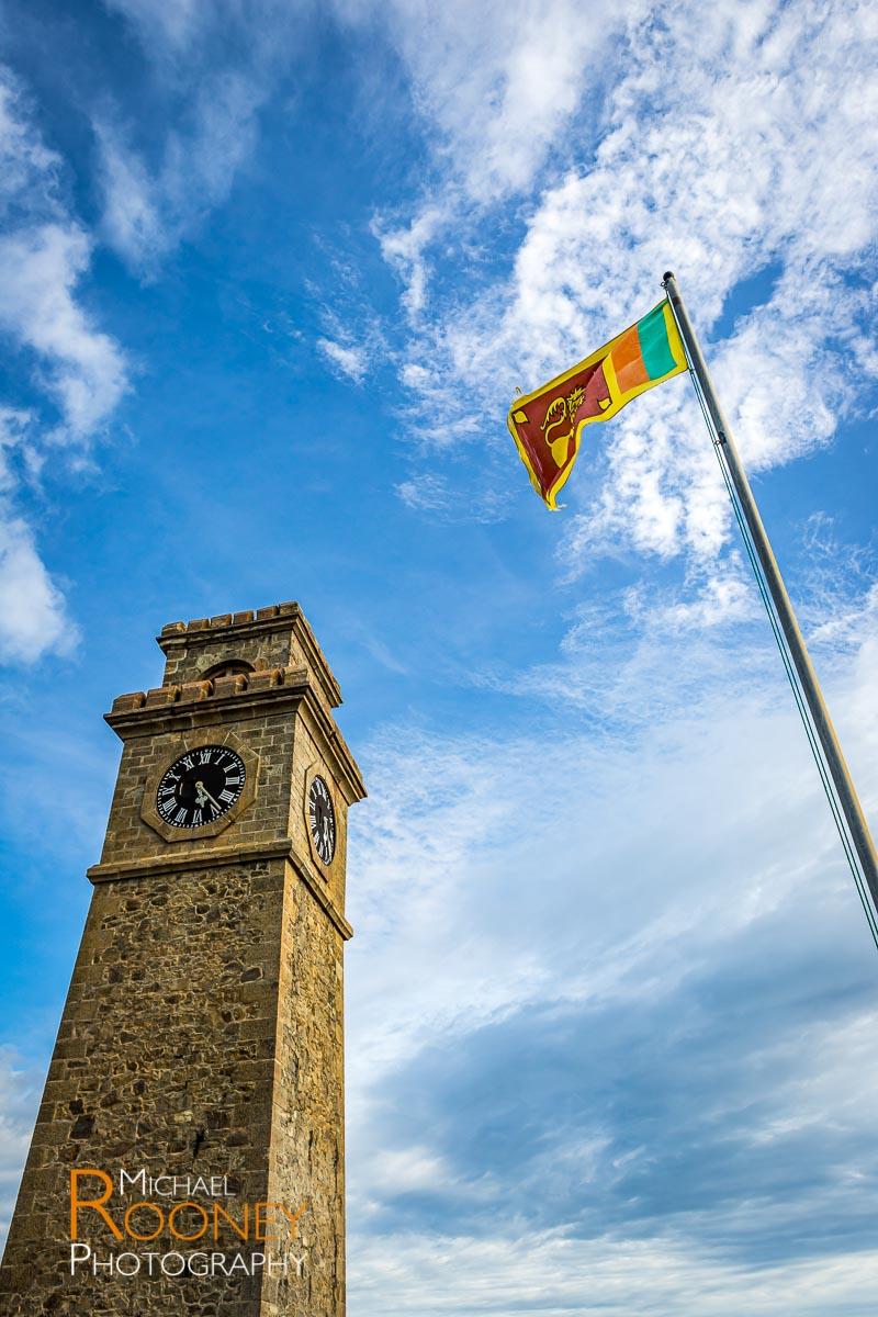 clocktower flag galle fort sri lanka