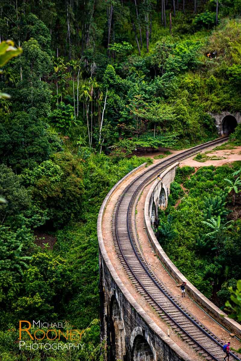 nine arch bridge tunnel railroad train ella sri lanka